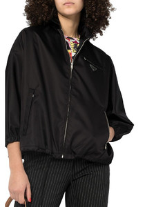 drawstring-hem bomber jacket