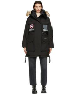 黑色Snow Mantra羽绒派克大衣