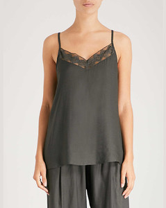 Liane lace-trimmed satin top