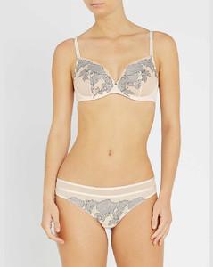 Garnier floral-lace and mesh plunge bra