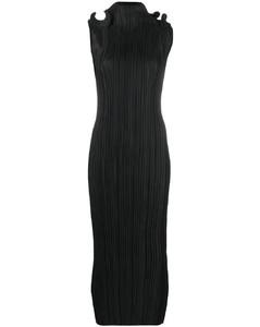 Mazarron ruffle pleated dress