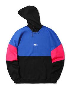 Colour block moniker hoodie