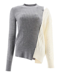 Pullovers Sacai for Women Grey Off White