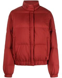 Light blue checked open-knit jumper