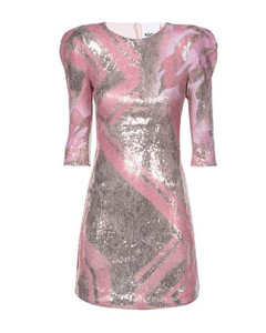 Sabine pink faux leather shirt