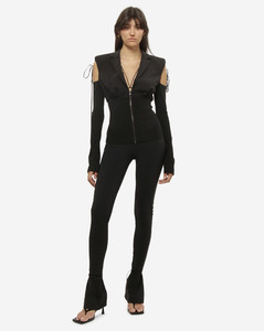 Prince of Wales-check cropped trousers