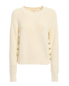 Side buttons sweater