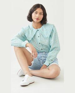 印花棉质府绸衬衫