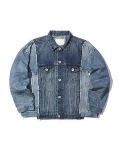 Panel denim jacket