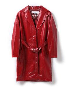 Leather vinyl coat