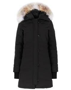 Lorette black fur-trimmed parka