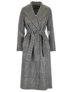 'S Max Mara Checked Belted Coat