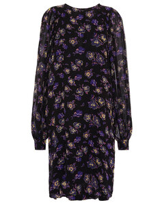 Woman Gathered Printed Georgette Dress