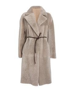 Embellished Check Coat