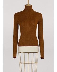 Turtleneck lurex sweater