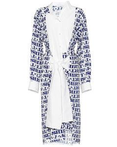 Asymmetric printed shirt dress