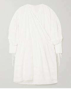 Edition Amalie Oversized Recycled Faille Wrap Dress