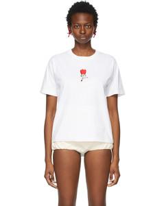 白色Flower T恤