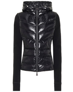 Quilted down ski jacket