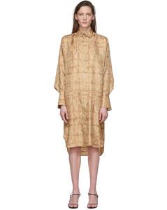 棕色Sonia真絲連衣裙