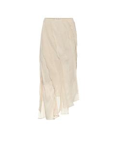 雙縐中長半身裙