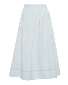 Pleated Patchwork Midi Dress