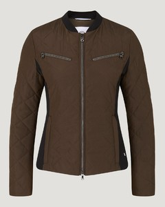 Mary Quilted jacket in Olive green/Black