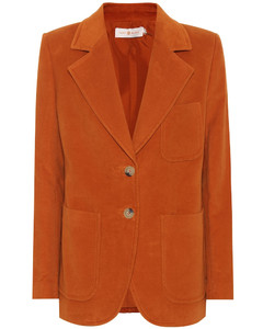Khloe棉质西装式外套