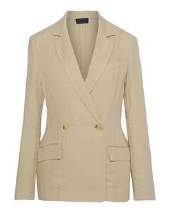 Lena double-breasted linen blazer