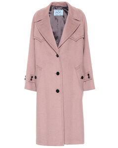 Wool, angora and cashgora coat