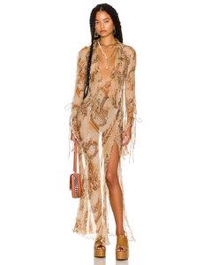Brown check seamless car coat