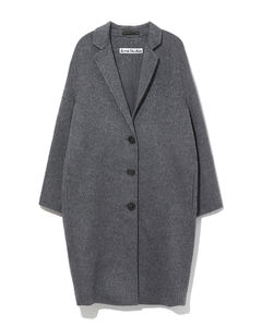 Single-breasted brushed wool overcoat