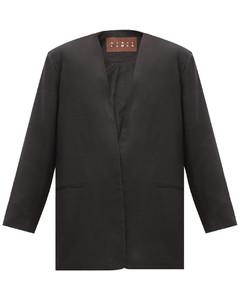 Sokol oversized single-breasted linen jacket