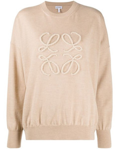 WOMEN'S S359333XAZ2151 BEIGE WOOL SWEATER