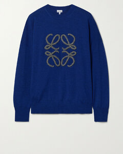 Embroidered Wool-blend Sweater