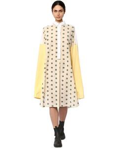 Oversize Embroidered Shirt Dress
