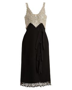 Elan bead-embellished silk dress