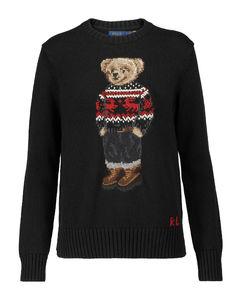 Polo Bear嵌花棉质毛衣