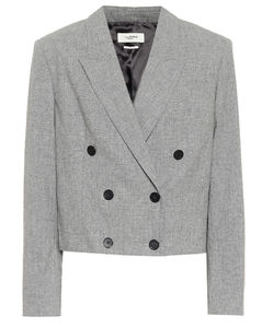 Lisby cropped wool-blend blazer