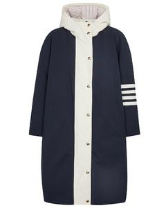 羽绒加衬垫帆布大衣