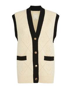 Wool Sleeveless Cardigan