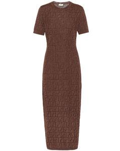 棉质混纺针织连衣裙