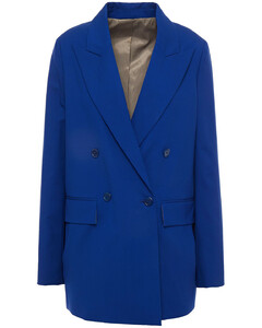 Woman Double-breasted Wool-crepe Blazer