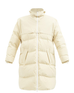 Frosted cotton-poplin quilted down jacket