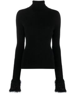 faux-fur lynx print coat