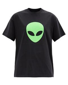 Alien-print cotton-jersey T-shirt