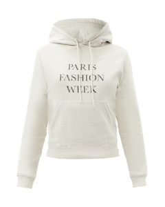 Paris Fashion Week cotton hooded sweatshirt