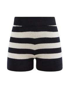No.179 Very striped stretch-cashmere shorts