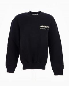 Black/white cotton logo-print workshop sweatshirt