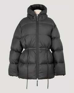 Dark gray Hooded puffer coat